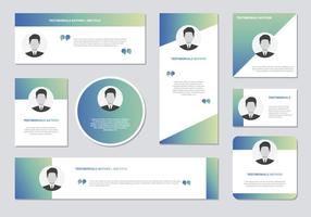 Website Testimonials Box Template Vector