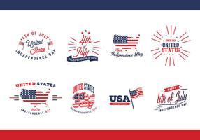 Día de la Independencia EE.UU. Vector