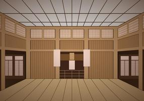 Indoor Dojo Temple vector