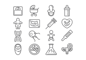 Maternity Icons Vector
