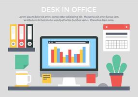 Gratis Vector Flat Design Workspace
