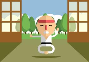 Karate di allenamento