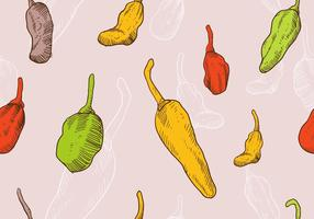 Hand Drawn Habanero Seamless Pattern