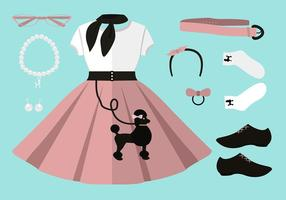 Ensemble de survêtement de caniche 50s Free Vector