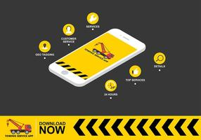 Towing App Gratis Vector
