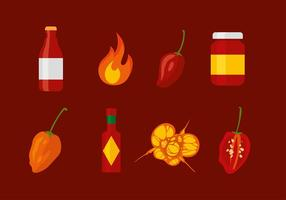 Habanero Set Free Vector