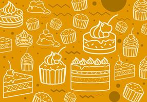 Cakes Line Icon Pattern