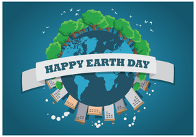 Earth Day Illustration Vector