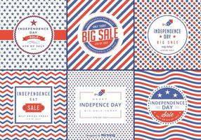 Independence Day Sale Vector Labels