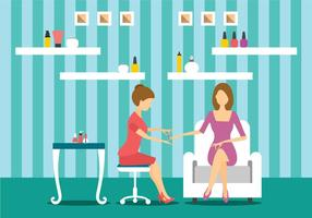 Manicurist Character Makes A Professional Manicure vector