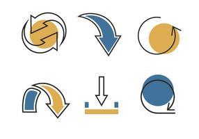Linee frecce icona vettoriale