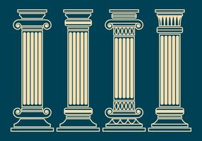 Corinthische Pillar Vector Set