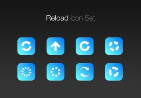 Actualizar Simple Icon Set Free Vector