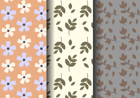 Freies Weinlese-Blumenmuster