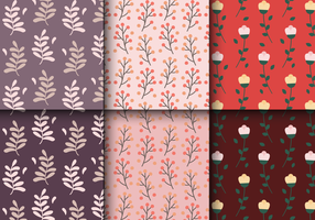 Gratis Vintage Bloemenpatroon