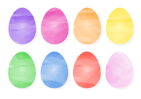 Free Colorful Easter Eggs vector