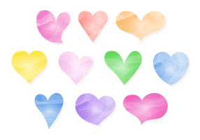 Free Watercolor Hearts