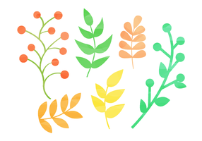 Free Watercolor Natural Elements vector