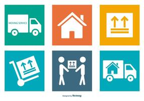Moving Service Icon Collection vector