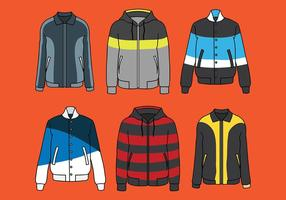 Windbreaker Vector Pictogrammen
