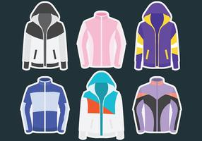 Windbreaker Vector Icons