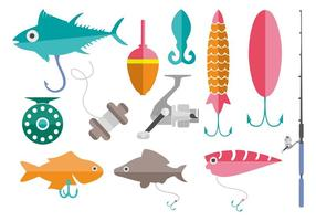 Free Fishing Tools Vector