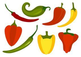Vetor livre das pimentas de pimentão