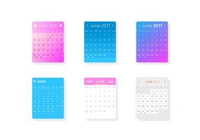 Free Unique Desktop Calendar Vectors