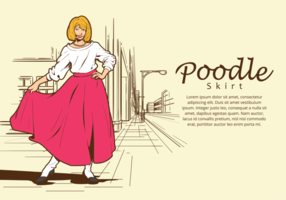 Poodle Skirt Vector Illustration