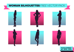 Mulher silhuetas pacote vetorial livre