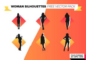 Pacote de vetores grátis de silhuetas de mulher
