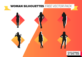 Kvinna Silhuetter Gratis Vector Pack