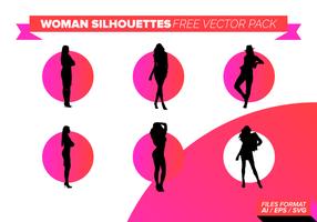 Vrouw Silhouetten Gratis Vector Pakket