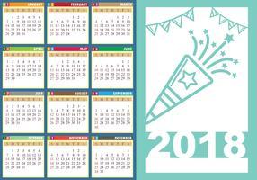 Free Desktop Calendar 2018 With Soft Colour Template ...