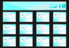 Design Template Of Desk Calendar 2018