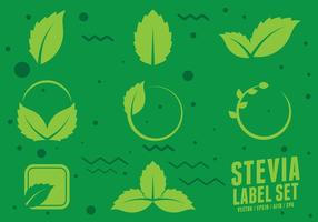 Stevia Natural Sweetener Icons vecteur