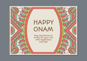 Molde do cartaz de Onam