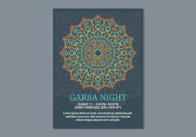 Garba Poster Template vector
