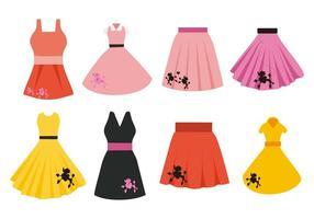 Livre Poodle Skirt Costume Vector
