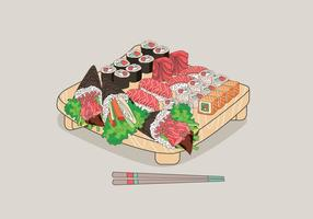 Vector de sushi temaki