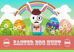 Vecteur de chasse aux oeufs de Pâques