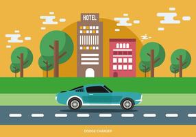 Classic Muscle Car vector