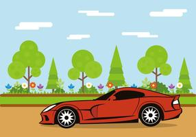 Modern Muscle Car vector