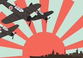 Kamikaze Schlachtschiff Vektor