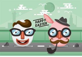 Hipster Easter Vector Design