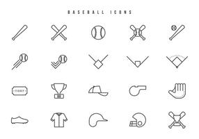 Kostenlose Baseball-Vektoren