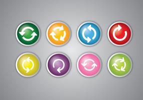 Icono de actualización Vector Set
