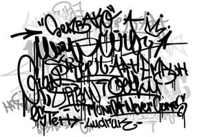 Vector Graffiti tags fundo monocromático
