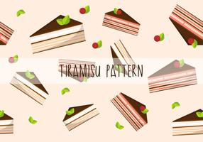 Tiramisu pastel patrón de vector plano