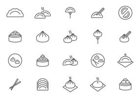 Vectores Dumplings gratis